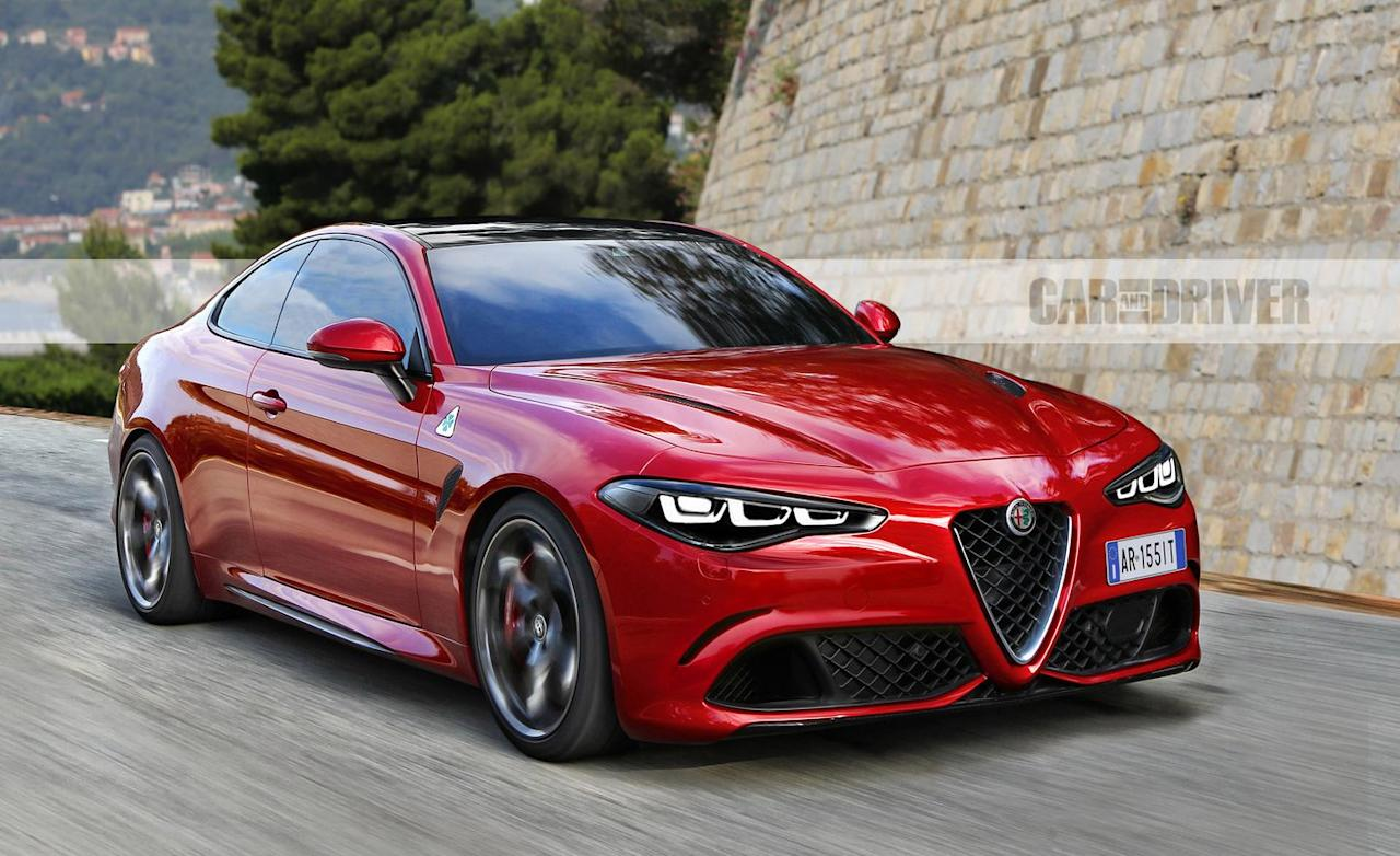 "<p>It's difficult not to love <a href=""https://www.caranddriver.com/alfa-romeo/giulia-quadrifoglio"" target=""_blank"">Alfa Romeo's Giulia Quadrifoglio</a>. In spite of the sports sedan's tragic reliability record, it's still an absolute joy to drive and looks incredible. Who wouldn't want that in even sexier form, like, say, <a href=""https://www.caranddriver.com/news/a22035700/alfa-romeo-gtv-quadrifoglio-what-we-know-about-the-600-plus-hp-coupe/"" target=""_blank"">a two-door coupe</a>? Good news! One is on its way, and it will resurrect the iconic <a href=""https://www.caranddriver.com/alfa-romeo/gtv"" target=""_blank"">GTV</a> name and add electrification to the the Quadrifoglio's 505-hp twin-turbo V-6. Expect up to 600 horsepower.</p>"