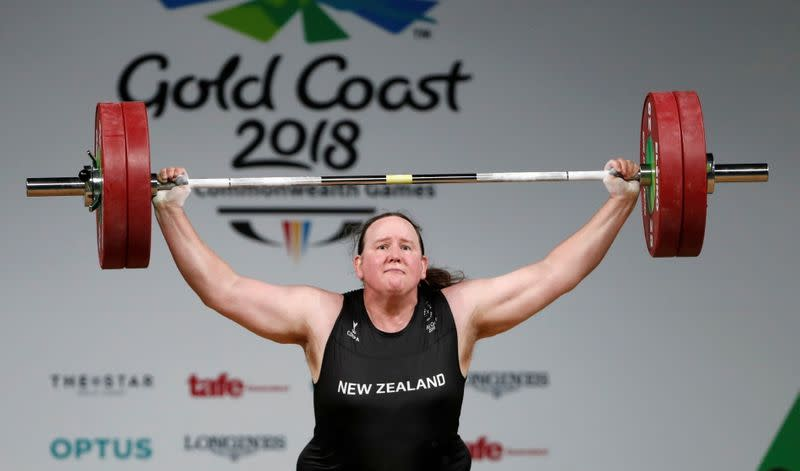 FILE PHOTO: FILE PHOTO: Laurel Hubbard of New Zealand competes at Gold Coast 2018 Commonwealth Games