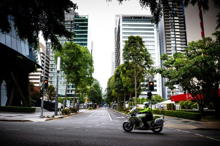 A new lockdown in Brisbane left the city streets deserted