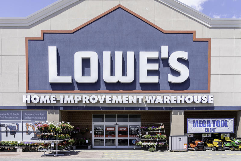 Toronto, Canada - June 06, 2019: Lowe's store in Toronto, Canada. Lowe's Companies, Inc. is an American retail company specializing in home improvement.