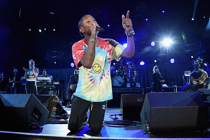 Stage presence: Singer Pharrell Williams (Kevin Mazur/Getty Images)