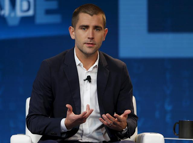 Chris Cox, Chief Product Officer at Facebook, speaks during the Wall Street Journal Digital Live ( WSJDLive ) conference at the Montage hotel in Laguna Beach, California October 20, 2015. REUTERS/Mike Blake