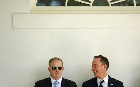 <span>Sean Spicer and Reince Priebus</span> <span>Credit: Reuters </span>