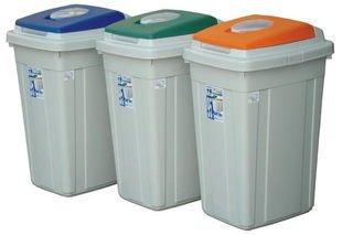 315 ~上市上櫃 ~CL95 日式分類垃圾桶*3入組 資源回收桶 掀蓋式 長型 分類桶 傘桶