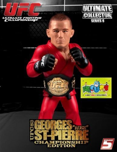 ☆阿Su倉庫☆WWE摔角 UFC終極格鬥 Georges St. Pierre Round 5 Championship Edition GSP冠軍限定版人偶