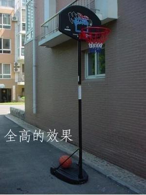 【移動籃球架-鐵管+塑膠-吹塑籃板-高165-305cm-1套/組】可升降調節高度(不含球)-56007