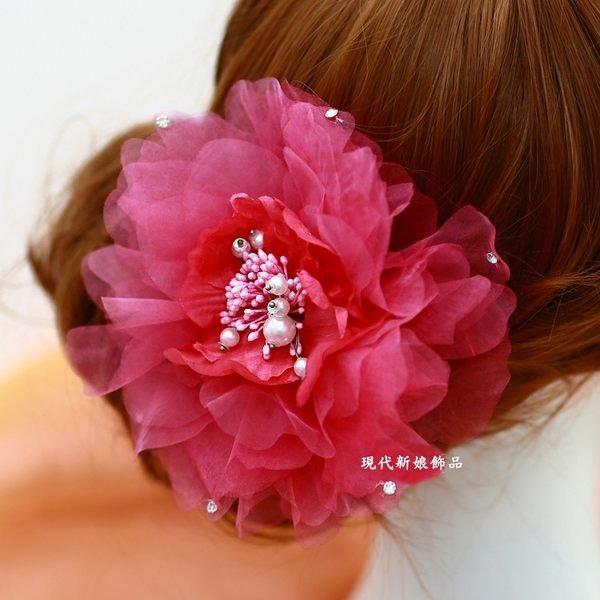 結婚六禮 12禮 喜字貼 帶路雞 會場佈置 紅包 新娘用品 ~C~608~雪之舞新娘頭花頭