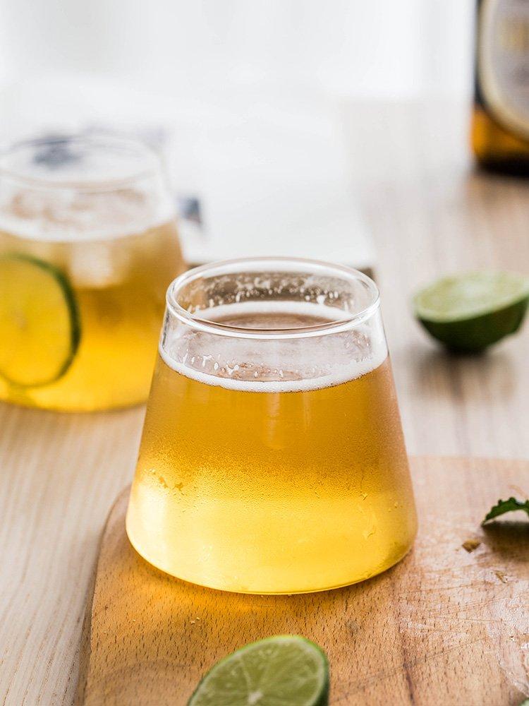 SX千貨鋪-富士山酒杯無鉛玻璃雞尾酒杯酒吧威士忌杯子果汁牛奶杯#玻璃杯#酒杯#水杯#茶杯#杯子套裝