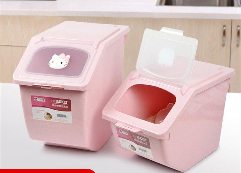 KITTY廚房防潮收納30斤20斤米缸塑料密封防蟲大米面粉裝米桶儲米箱(小號)