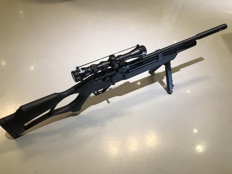 高雄麥克模型 Hatsan Flash 閃電 5.5mm(內鍵滅音器)PCP 空氣槍