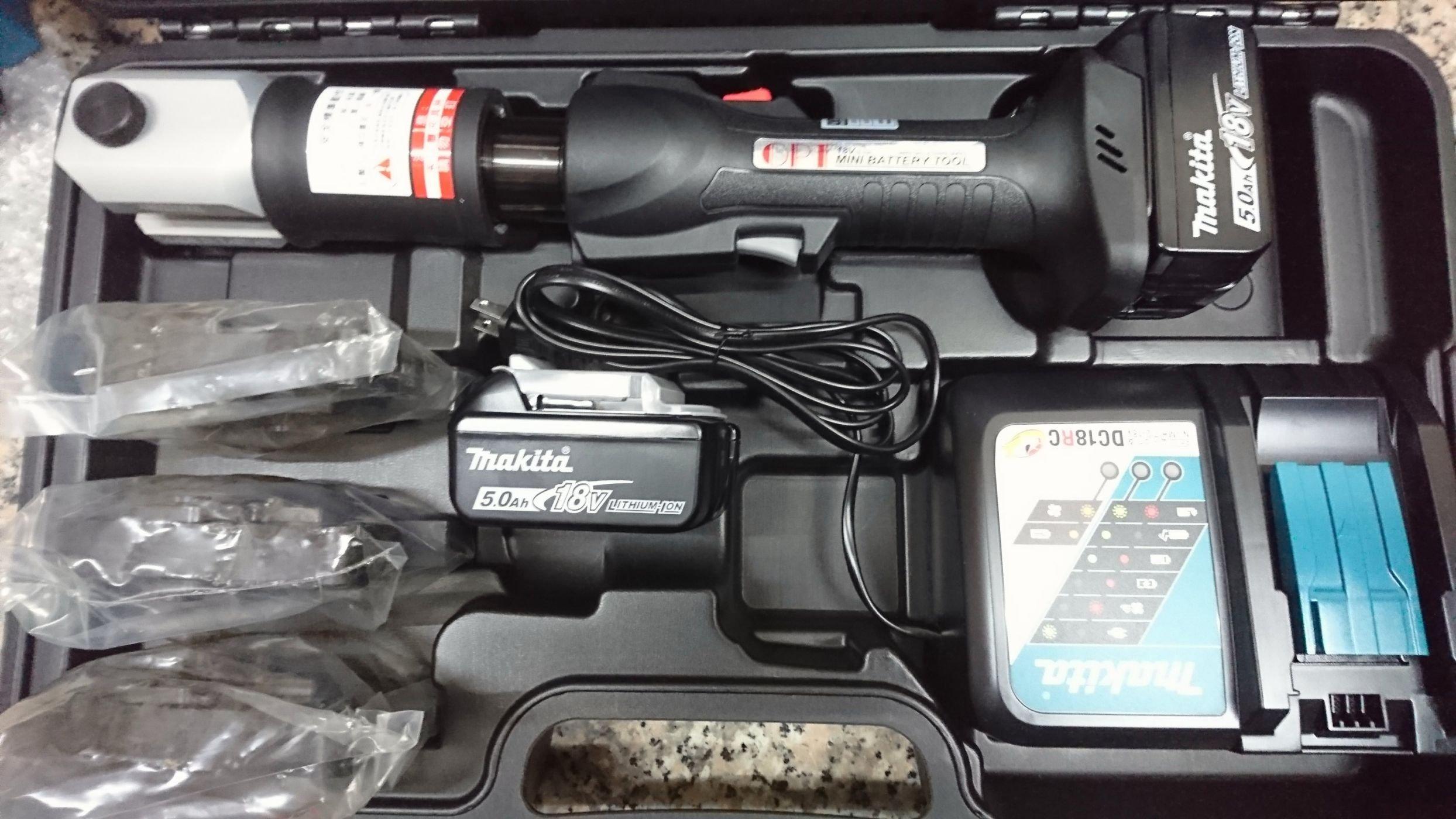 (my工具)OPT18v充電式白鐵管壓接機 台灣製 雙牧田5.0AH電池 來電有優惠 ROLLER ASADA