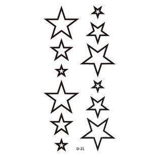 【萌古屋】原宿風中空星星 - 男女防水防汗原宿刺青貼紙TATTOO 紋身貼紙 D-21