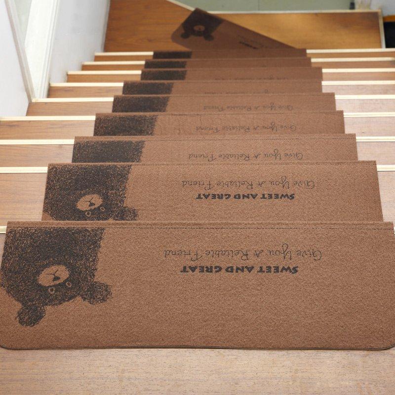 SX千貨鋪-樓梯墊踏步墊免膠自粘實木樓梯地墊腳墊防滑家用室內樓梯墊子#腳墊#吸水#日式#樓梯墊#客廳墊