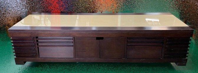 宏品二手傢俱館 台中全新中古家具家電賣場 A32250*大理石實木電視櫃 TV矮櫃 平面高低櫃*客廳桌椅 沙發 茶几餐桌