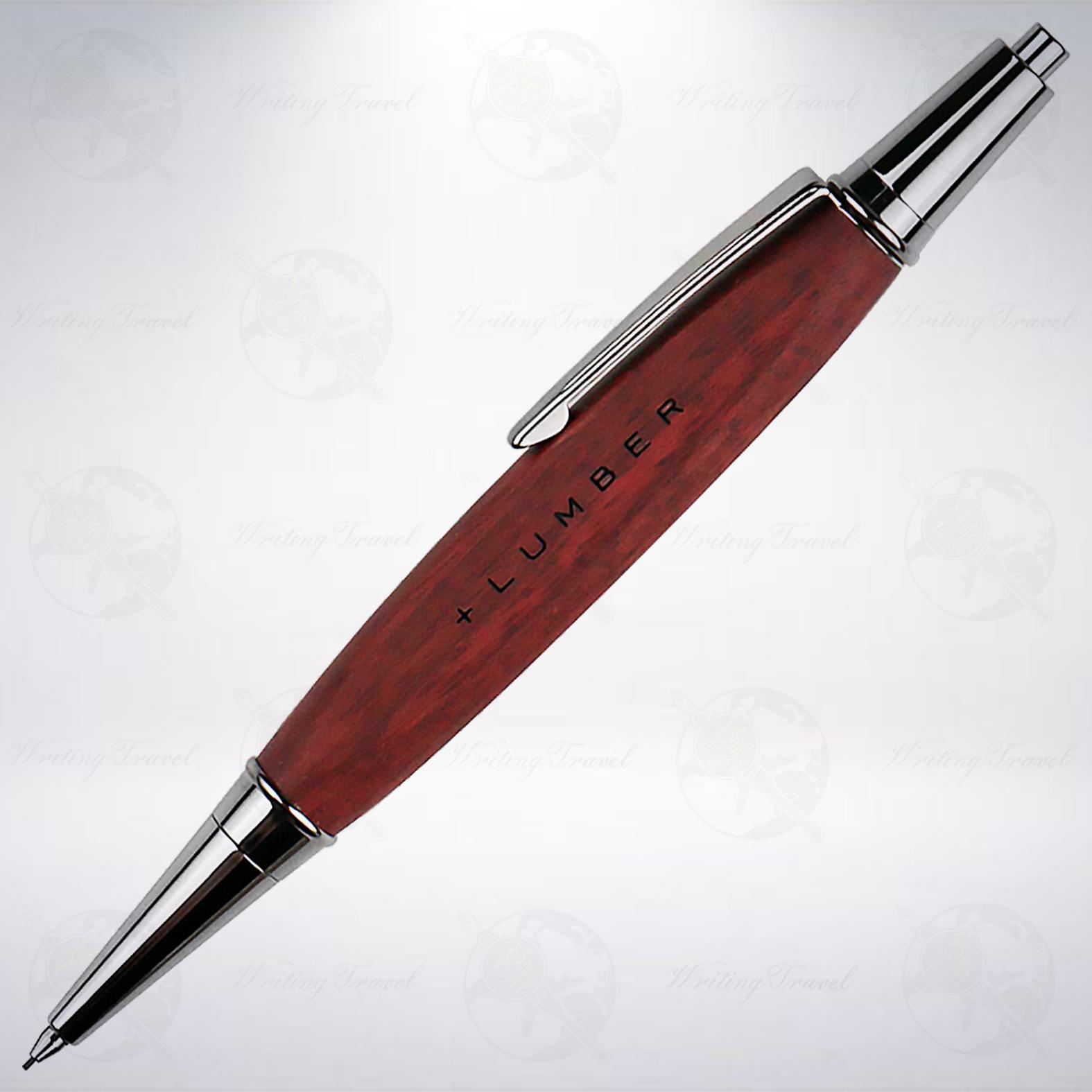 日本 +LUMBER 0.5mm 三角木軸自動鉛筆: 紫心木/Purple Heart