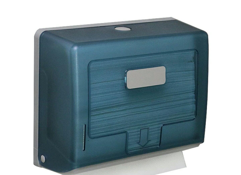 YAHENG衛生間塑膠擦手紙巾盒壁掛式酒店抽紙盒廚房紙巾架擦手紙盒 免打洞(藍色) 358元