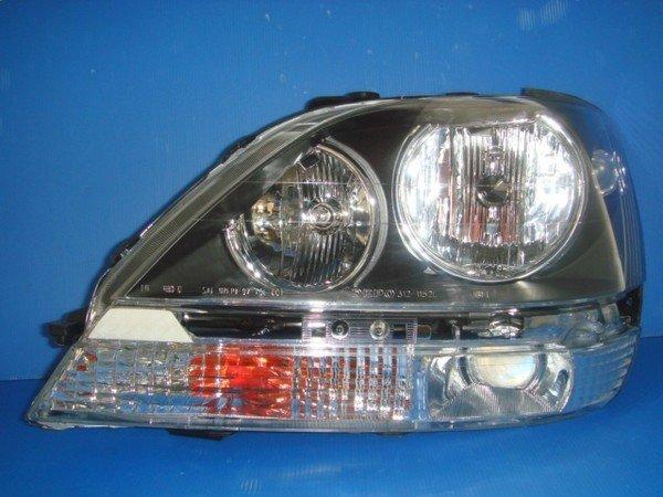 小亞車燈╠ 全新LEXUS-RX300晶鑽黑框版大燈一顆3000元.晶鑽前保側燈700