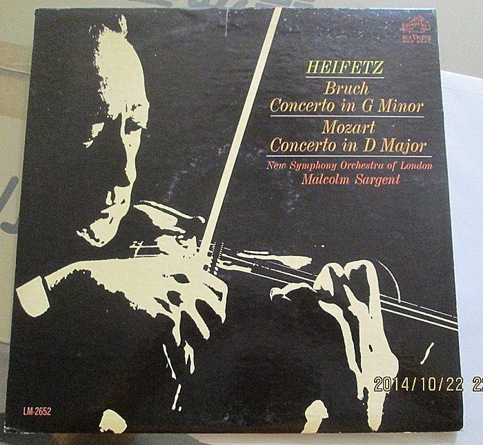海飛茲Heifetz-Burch Concerto in G Minor/Mozart Concerto in D Ma