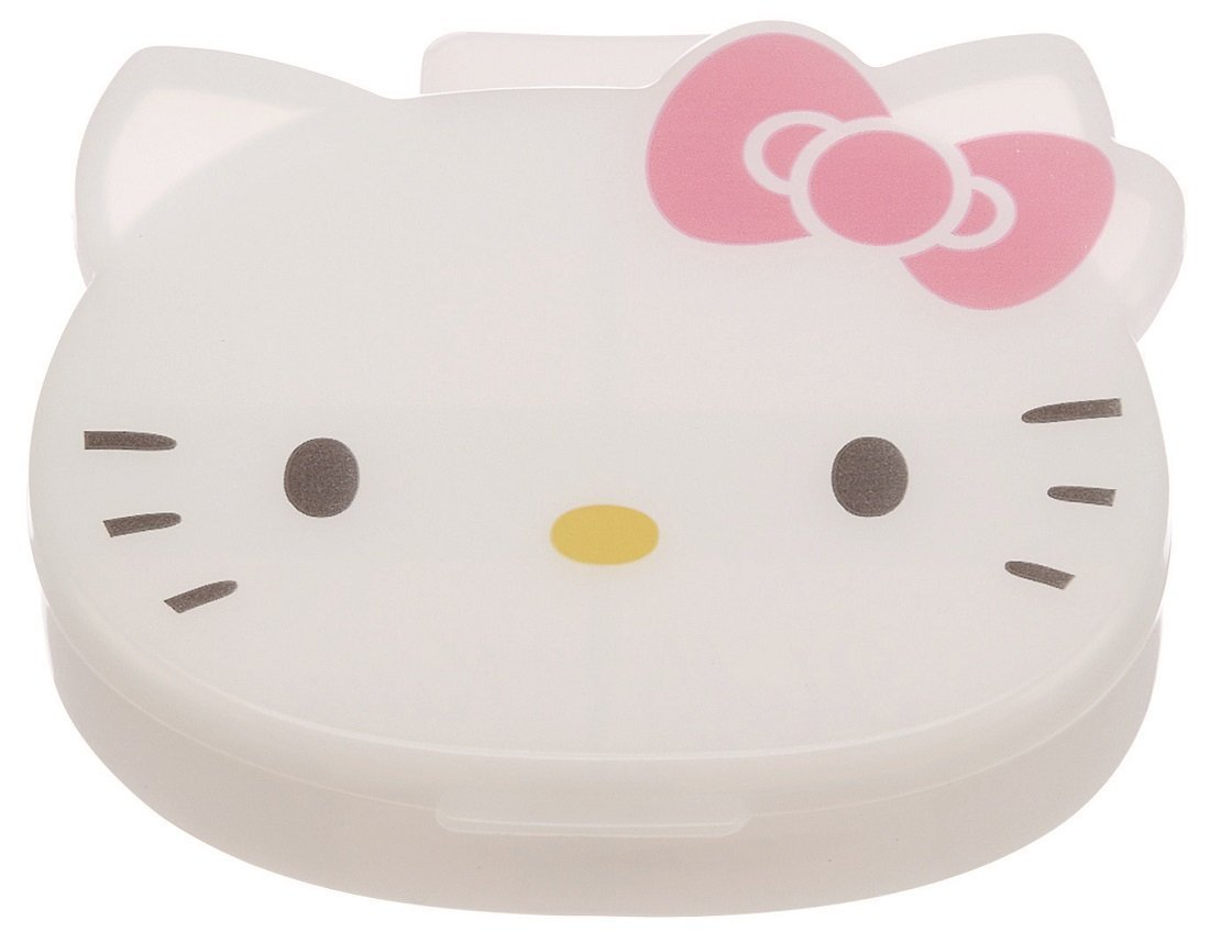 JP購✿17040100046 4格收納盒-KT大頭粉結 凱蒂貓 kitty 飾品盒 收納盒 置物盒 分格小物盒 整理盒