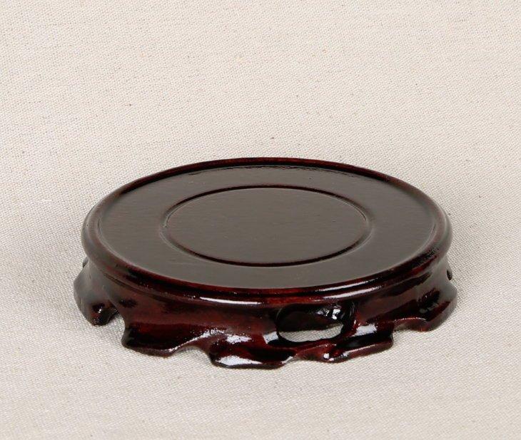 紅木圓形木底座 豼貅金蟾蜍龍龜 玉石 擺飾 茶具 盆景 花瓶  木座 木托 木架(直徑10公分)