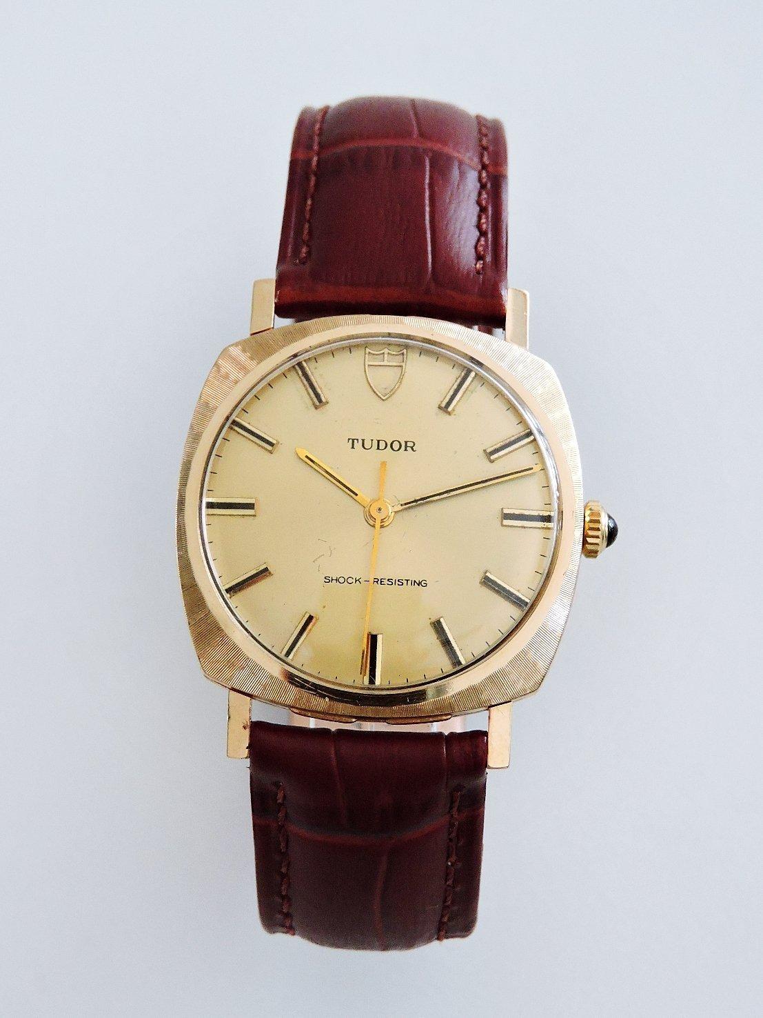 正9K金  ROLEX / TUDOR 帝舵 典藏手上鍊機械古董錶 勞力士 男錶