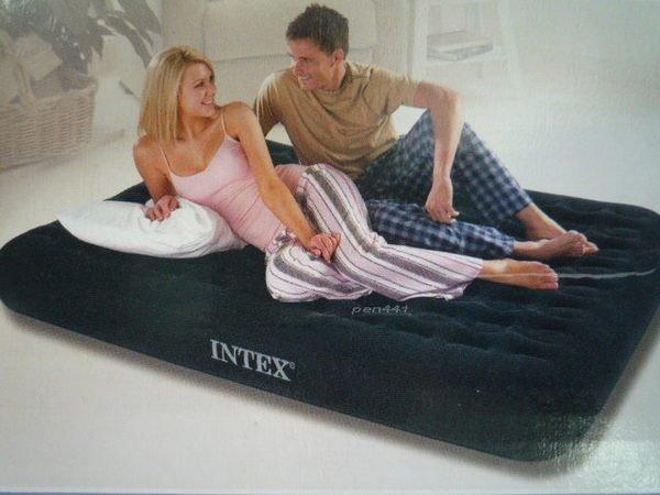 玩樂生活INTEX66724 豪華獨立筒雙人防水植絨充氣床加床或露營137cm*191cm*23cm(附修補片收納袋)