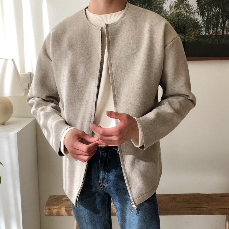 正韓男裝 雙向拉鏈羊毛外套 羊毛50% / 4色 / NMO1942 KOREALINE 搖滾星球