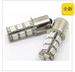 【鑫巢】買5送1 1156 18晶  SMD 5050 LED 平 斜腳 單芯燈泡.方向燈