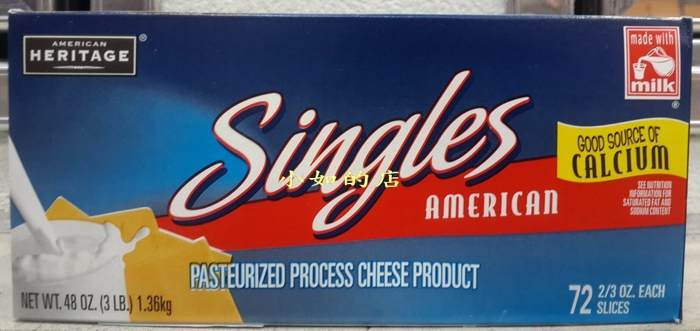 【小如的店】COSTCO好市多代購~AMERICAN 美國乾酪片單片包(每盒1.36kg)適用於三明治.漢堡 32724