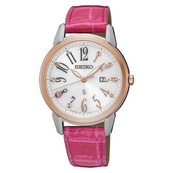 可議價.「1958 鐘錶城」SEIKO精工錶 LUKIA 錶V137-0CG0R(SUT306J1)情人節限量800只