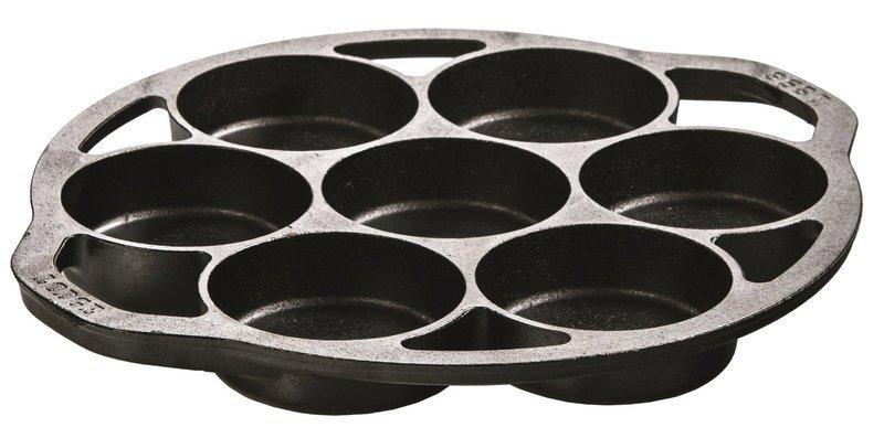 美國帶回Lodge L7B3 Logic Drop Biscuit Pan 7孔鑄鐵烤盤煎餅鍋/ 紅豆餅/杯子蛋糕鍋