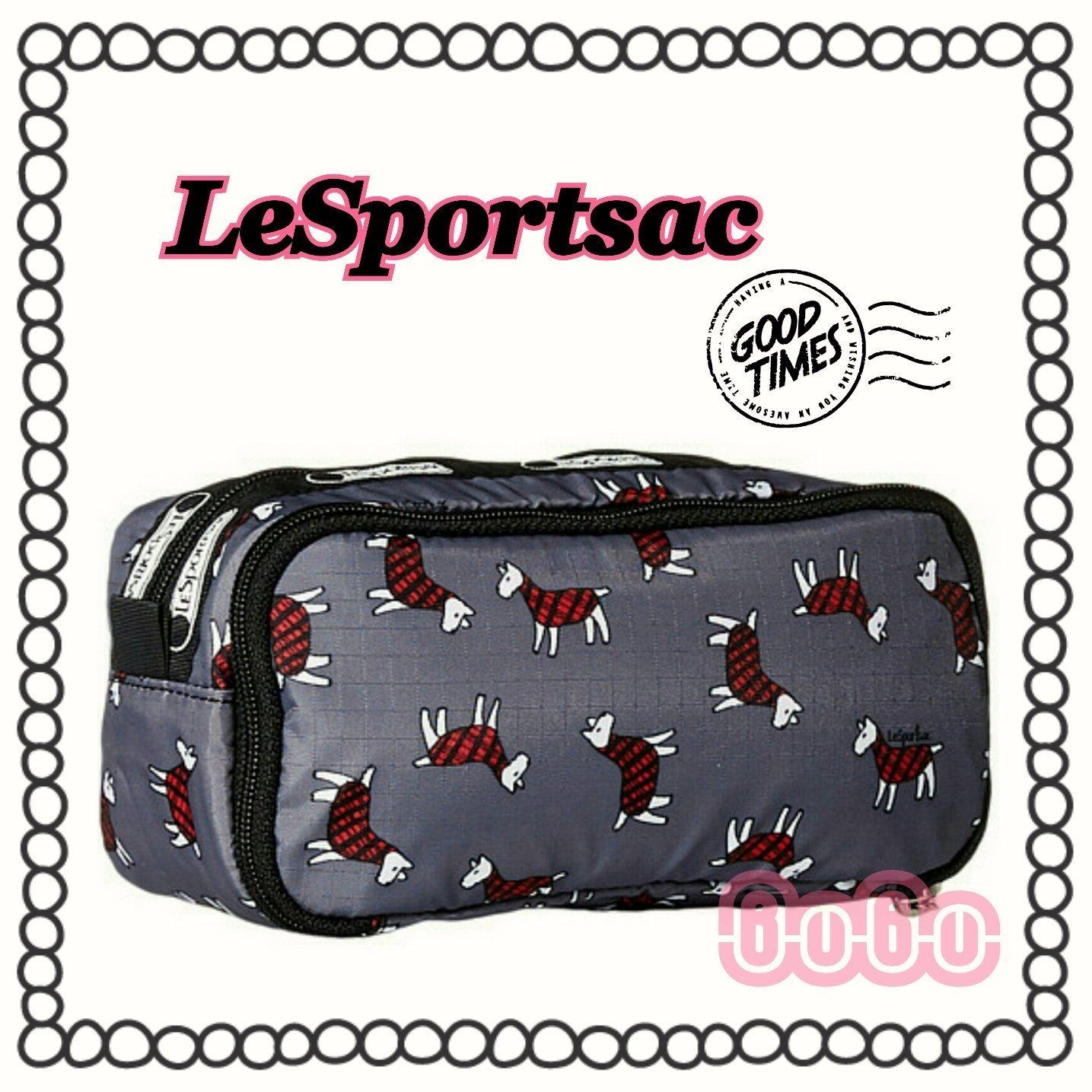 美國品牌LeSportsac雙層化妝包/萬用包/手拿包/旅行洗漱包/收納包/筆袋~♥BuBu彩虹小舖♥