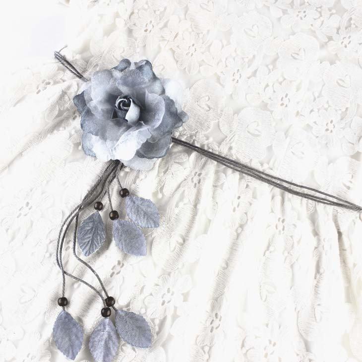 ~小p包鋪~流蘇腰帶繩子 細裝飾腰繩 大花朵 百 裙子系帶  腰鏈