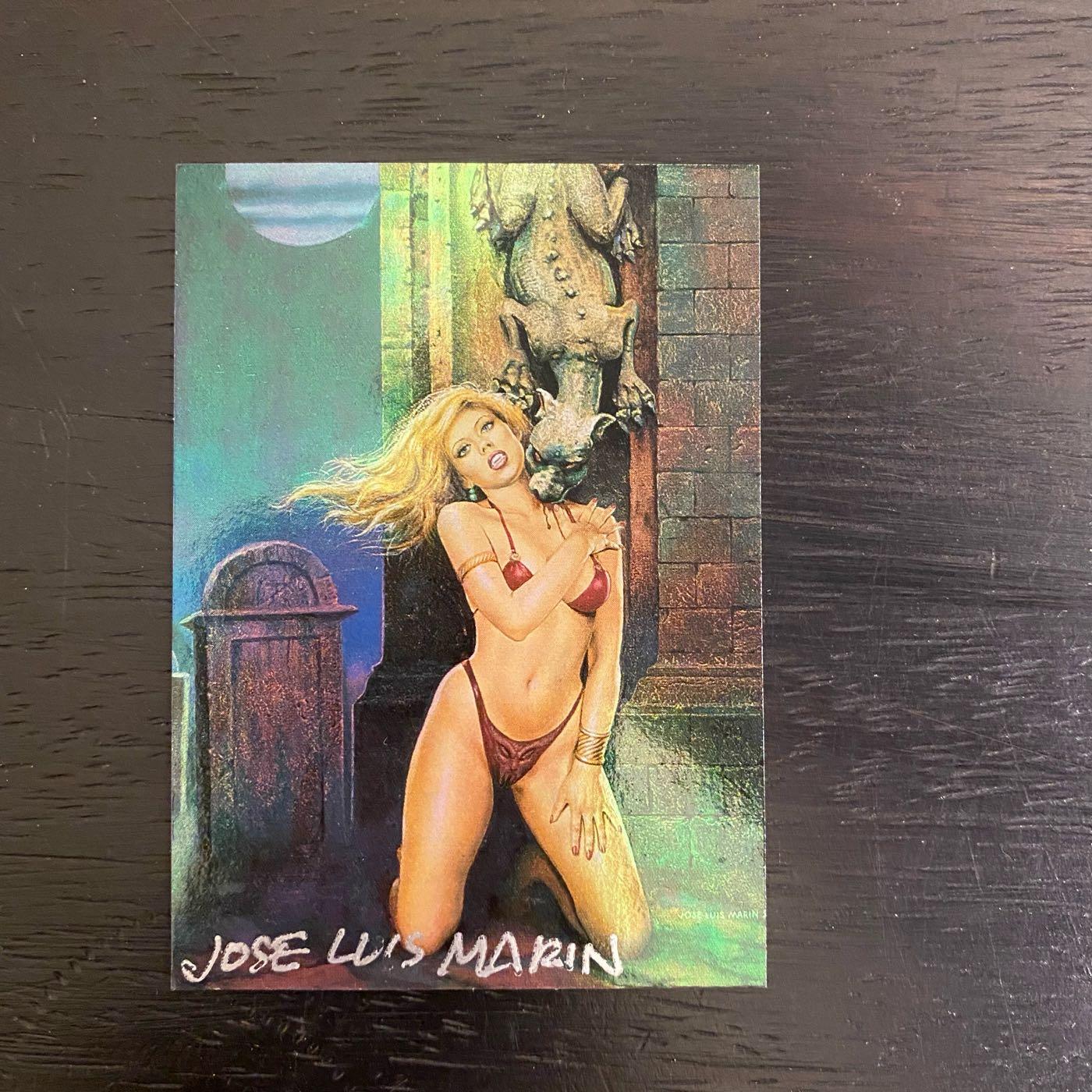 1998 Jose Luis Marin comic images 親筆簽名 收藏卡 卡片