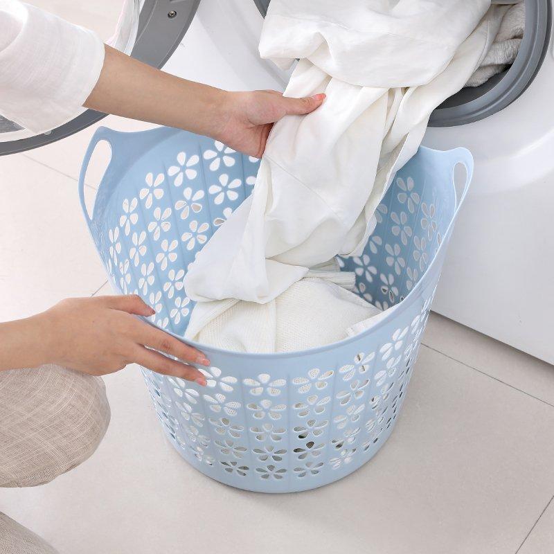 收納家居!!!大號塑料臟衣籃衣簍浴室洗衣籃家用玩具衣物收納籃臟衣服收納筐