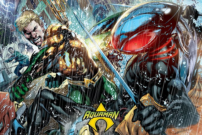 英國 海報 PP34456 (DC正義聯盟 水行俠 Aquaman (Atlantean Punch))
