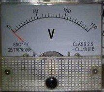 直流指標電壓表頭 85C1型模擬小表頭 100V機械表頭 正面65*56MM[57849-017] yahoo f