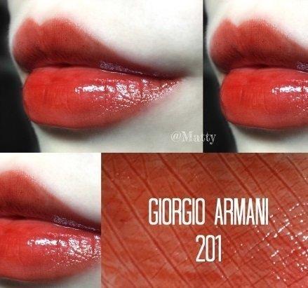 美代小舖 現貨 GIORGIO ARMANI 奢華訂製緞光水唇膏 201 人氣熱賣色