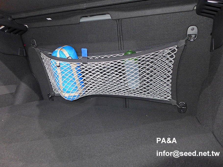PA&A 後行李廂椅背固定網 置物網 SPORT+ 運動版 PEUGEOT 208 2008 308 MK1 專用