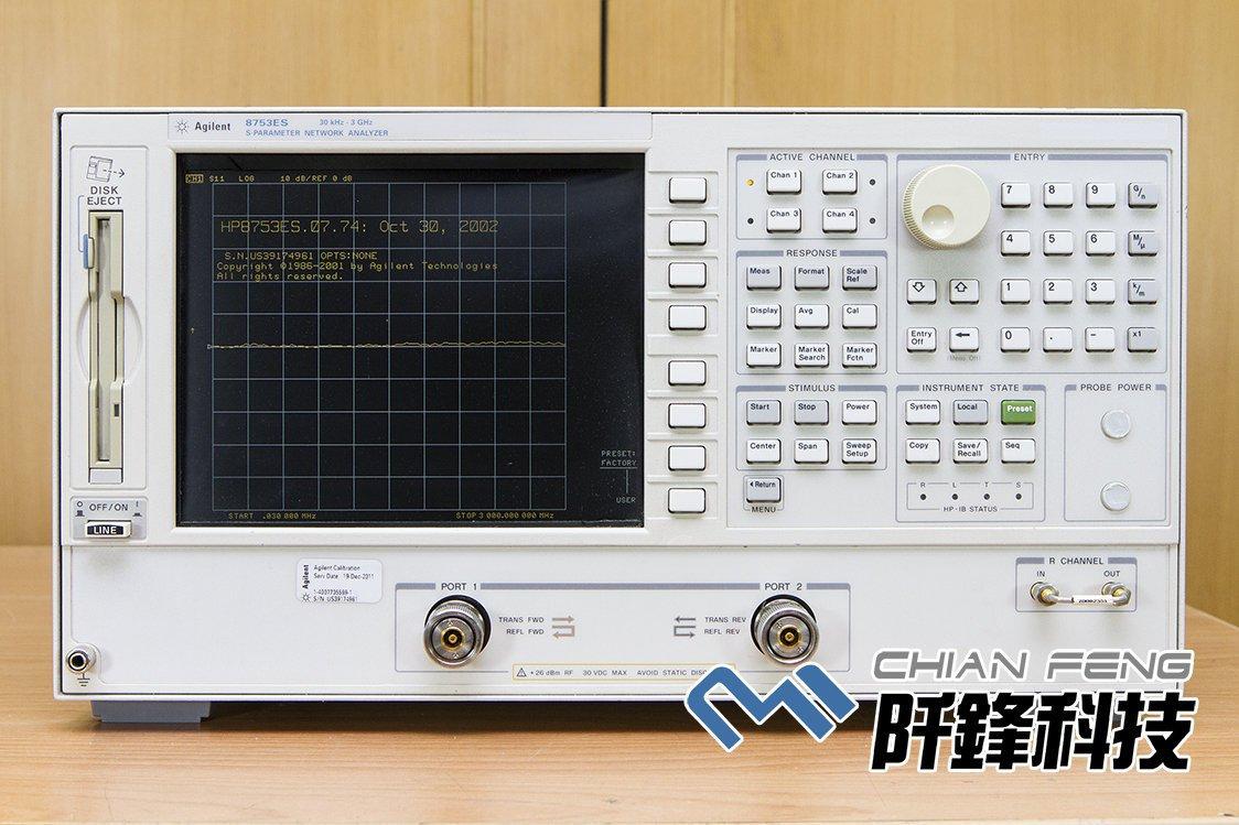 【阡鋒科技 專業二手儀器】安捷倫 Agilent 8753ES 30kHz-3GHz 網路分析儀