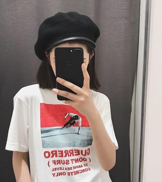 yu chieh-皮質滾邊羊毛尼貝蕾帽畫家帽多色韓國/日本訂單zara.NUDE小安.薛妞妞.花猴