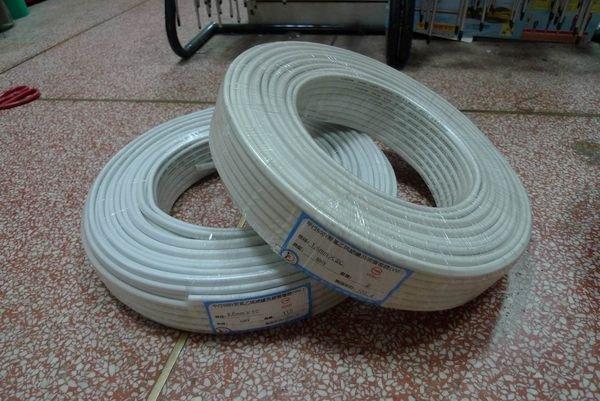 附發票*東北五金*正台灣製德利 高品質 白扁線 電纜線 電線 電源線 2.0mm*2C*50Y 特價優惠中!