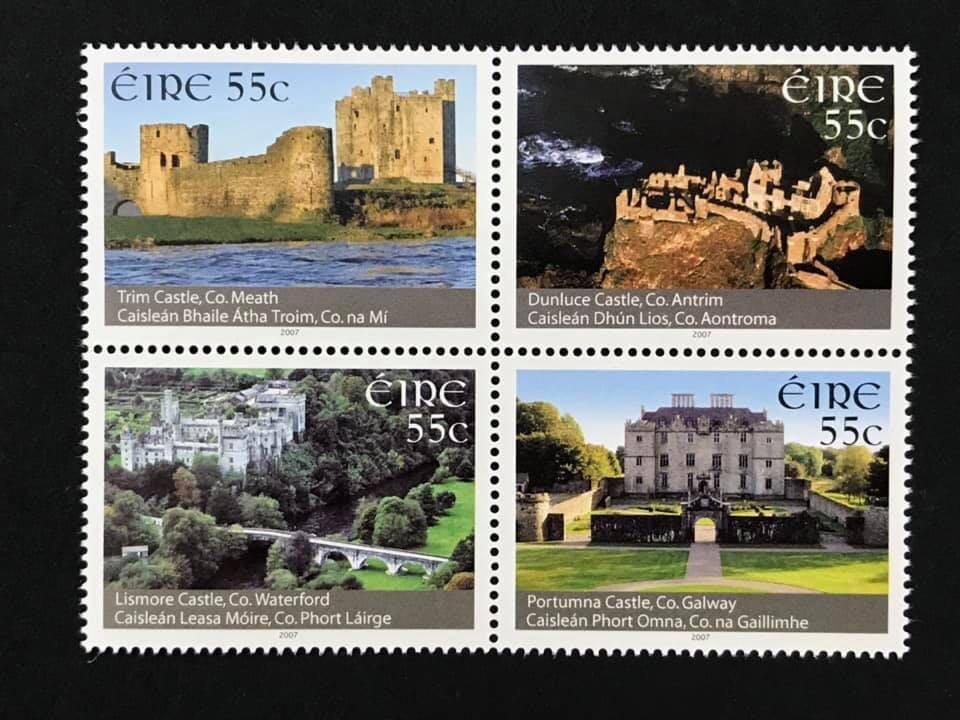 2007.03.07 #愛爾蘭 #中世紀城堡遺跡 套票4全 135元