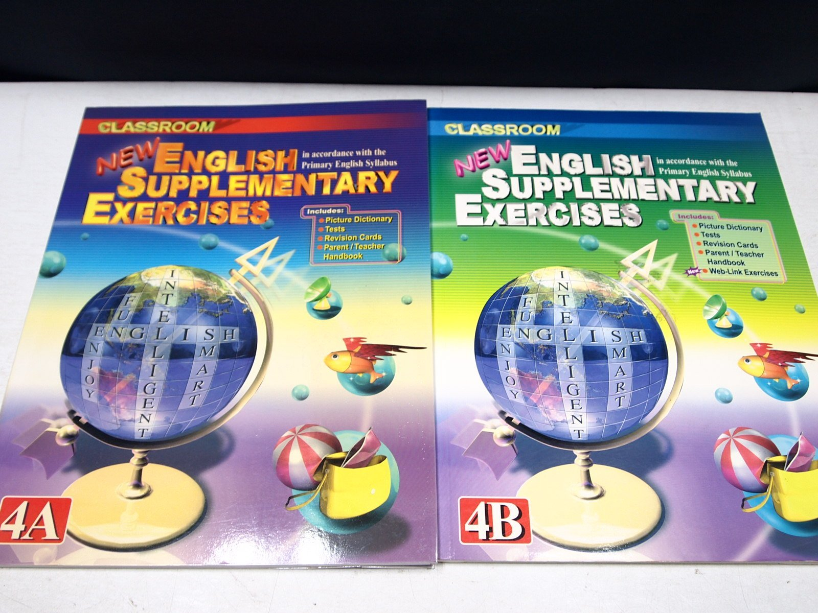 【考試院二手書】《NEW ENGLISH SUPPLEMENTARY EXERCISES 4A+4B 》│ 七成新