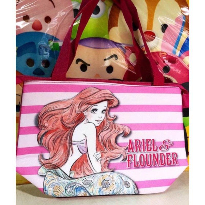 迪士尼 THE LITTLE MERMAID 小美人魚 艾莉兒 保冷提袋 收納袋 置物袋 環保袋 便當袋