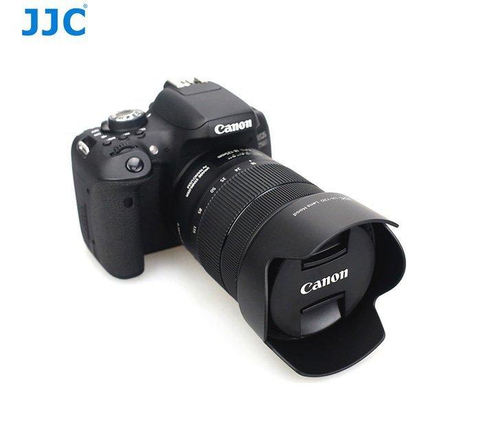 公司貨JJC佳能EW-73D EOS 80D相機鏡頭18-135 USM遮光罩 可反裝