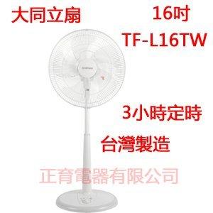 【TF-L16TW】TATUNG 大同電扇 立扇 16吋 三段風速 3小時定時 無段高低調整  免