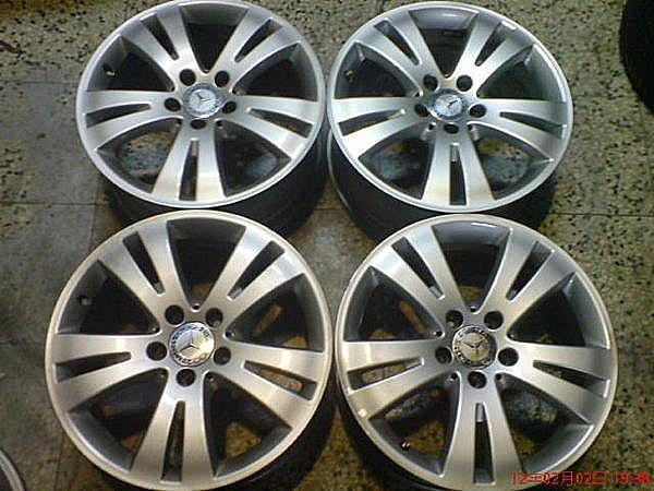 賓士原場17吋鋁圈W124-W210-W202--W203-W204-E320-E230-E280--C240-C300