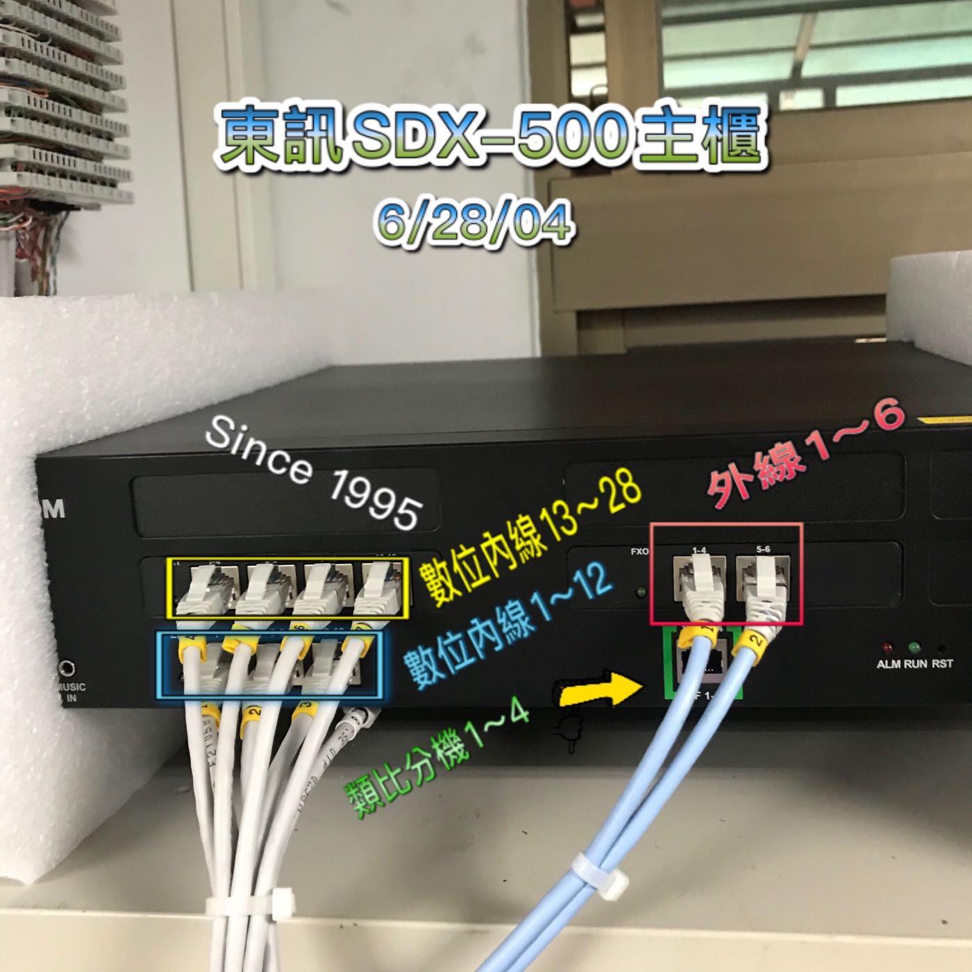Since1995—東訊SDX500 電話總機—(6外28內4單)自動總機