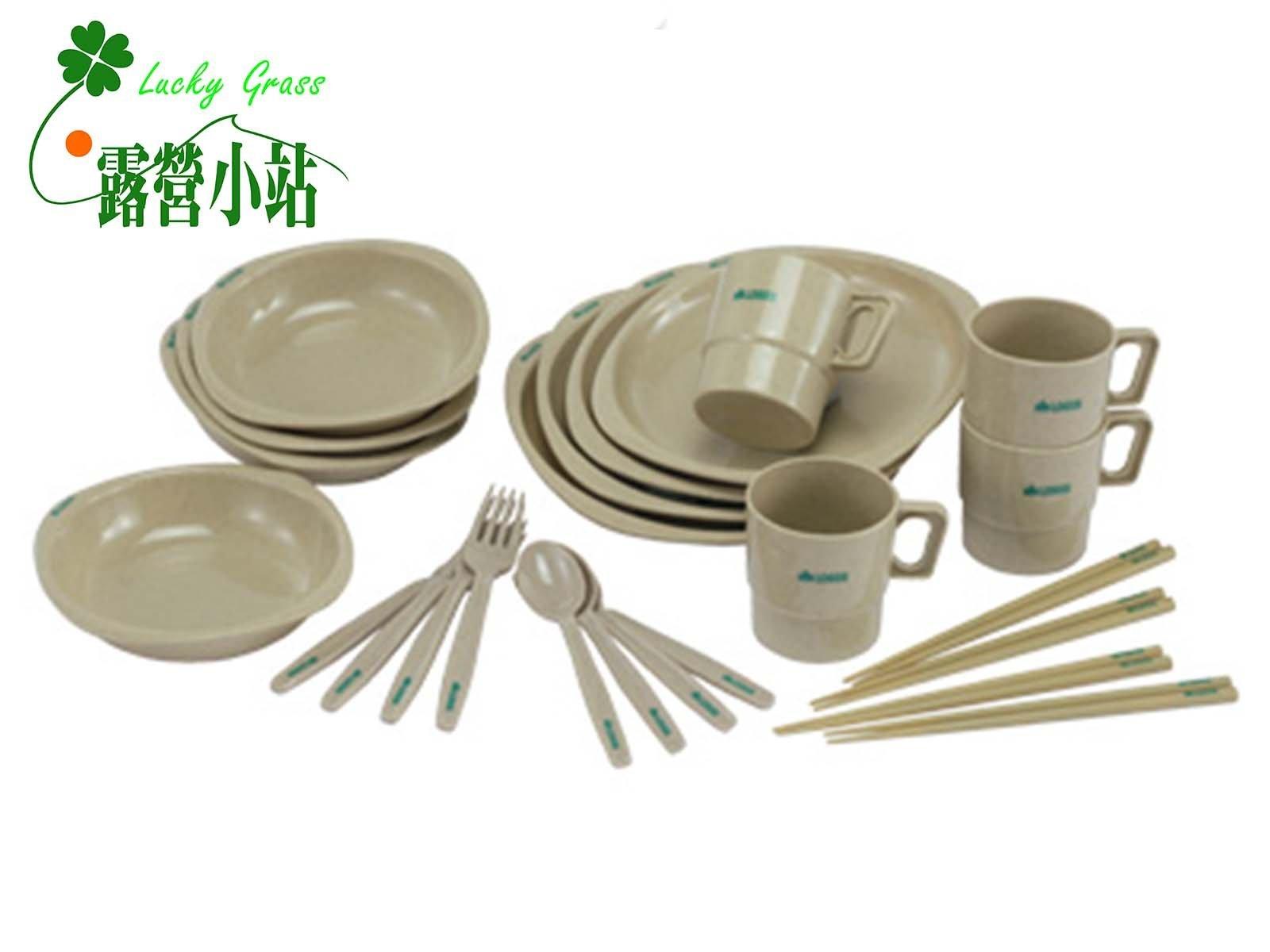 露營小站~特價商品【81285003】日本LOGOS 四人份餐具組 (含筷子)-國旅卡